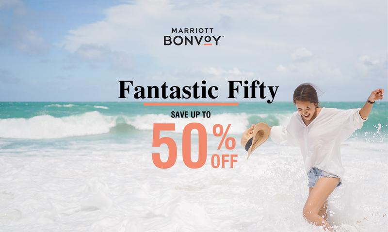 Fantastic Fifty! Enjoy 50% off with Marriott International in Thailand