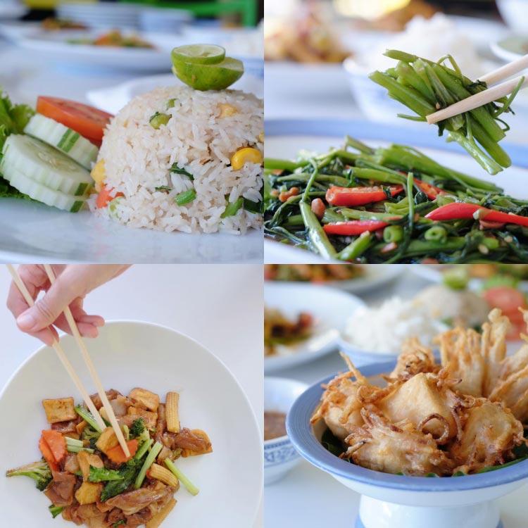 Vegetarian menus at Aroi Seafood
