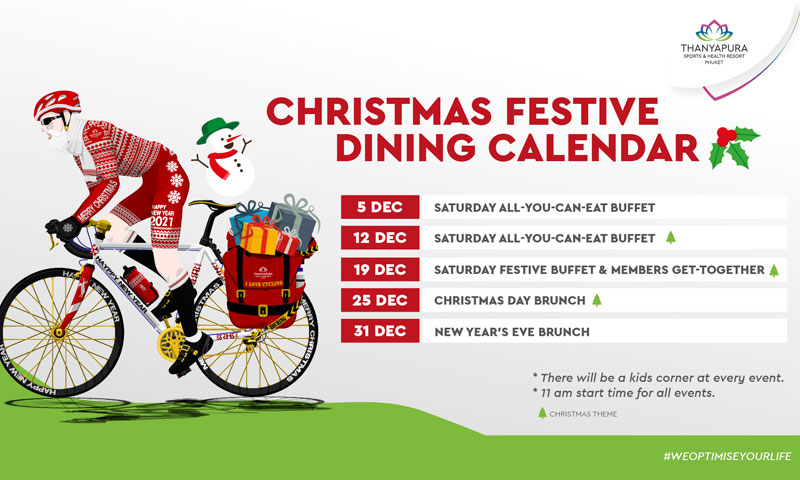 December festive dining events, Thanyapura Phuket