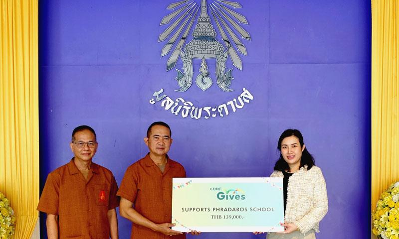 CBRE Donates to Phradabos School