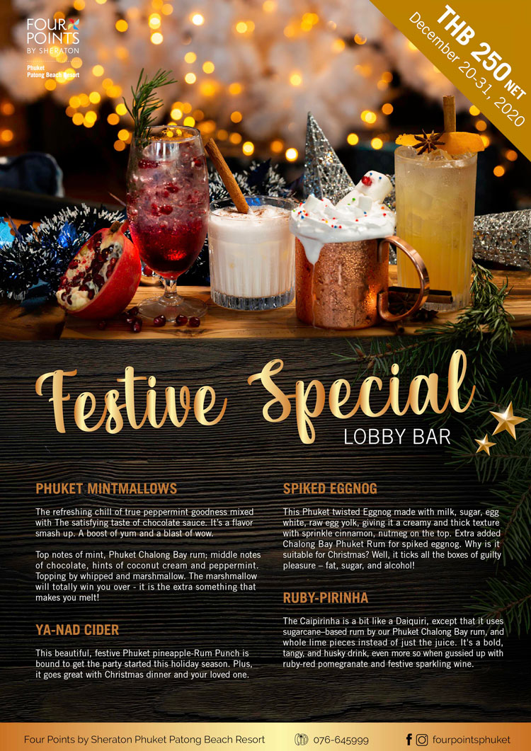 Celebrate the festive season in style with Four Points By Sheraton Phuket Patong Beach Resort