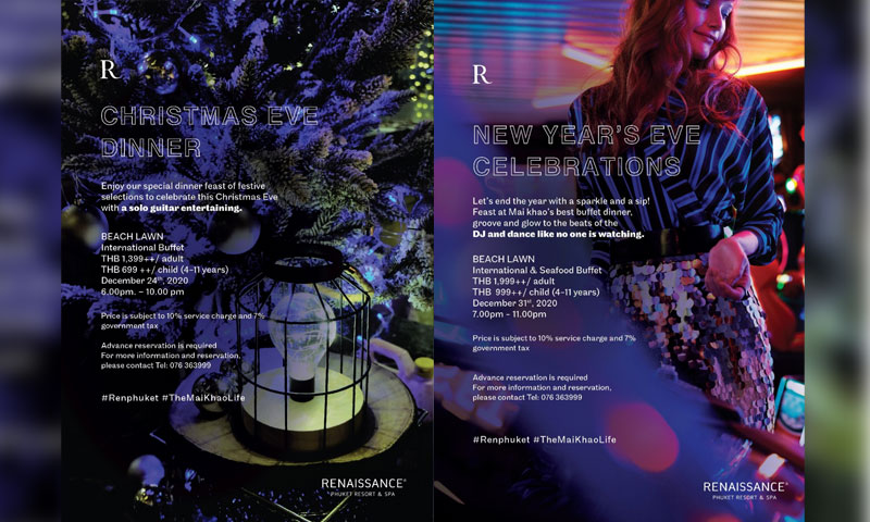 Come celebrate the year-end festivities at Renaissance Phuket Resort & Spa