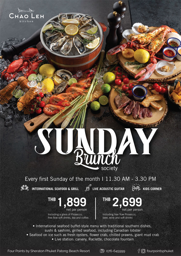 Sunday Brunch Society, Four Points by Sheraton Phuket Patong Beach Resort