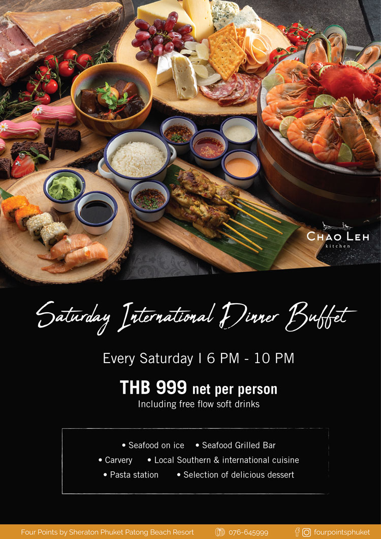 Saturday International Dinner Buffet at Chao Leh Kitchen