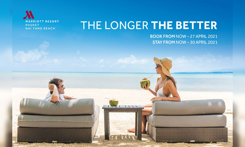 """The Longer The Better"" promotion – Phuket Marriott Resort and Spa, Nai Yang Beach"