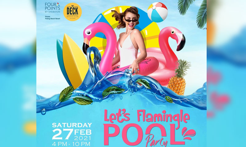 Promotion of Pool Party, The Deck Beach Club Patong