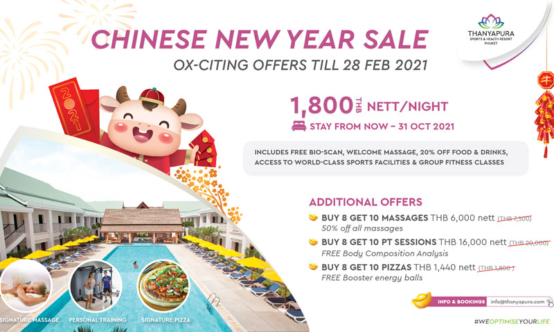 Thanyapura Sports and Health Resort launches Ox-citing Lunar New Year hotel  promotions