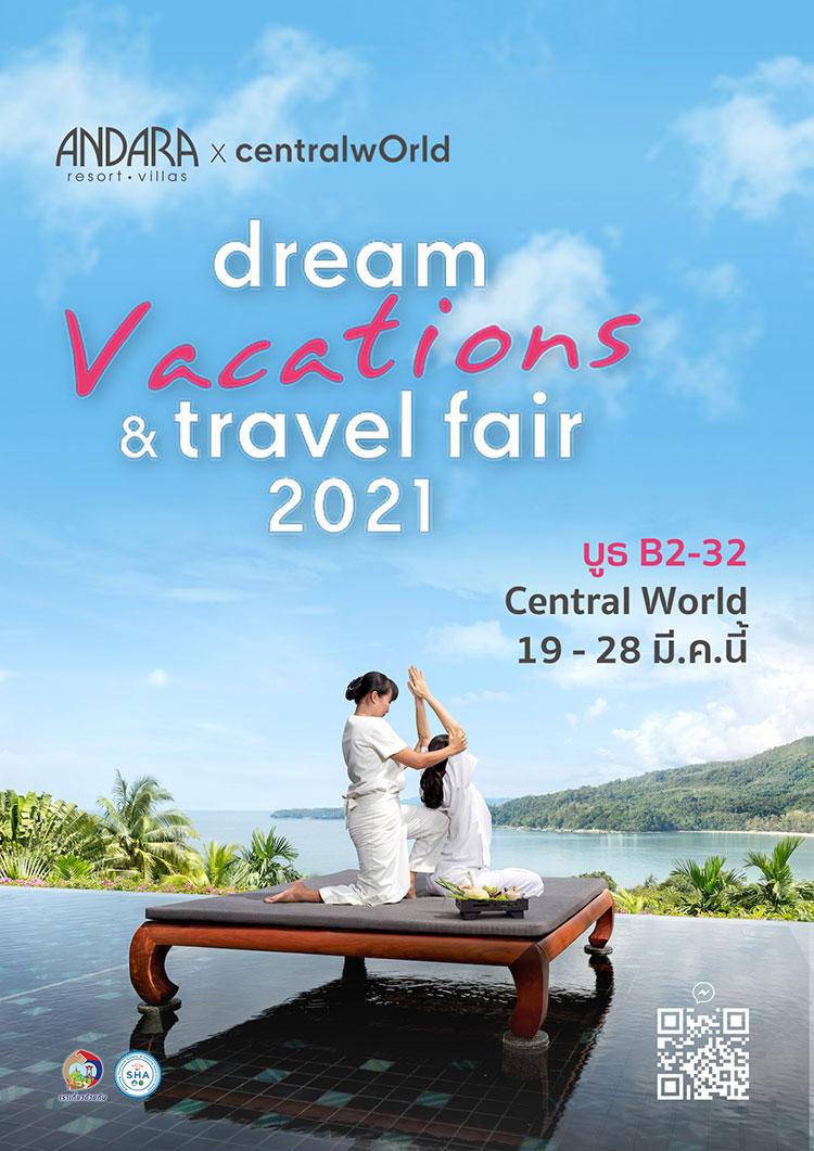 Explore special deals from Andara Resort & Villas at 'Dream Vacation and Travel Fair 2021'at 1/F, Central World Bangkok!