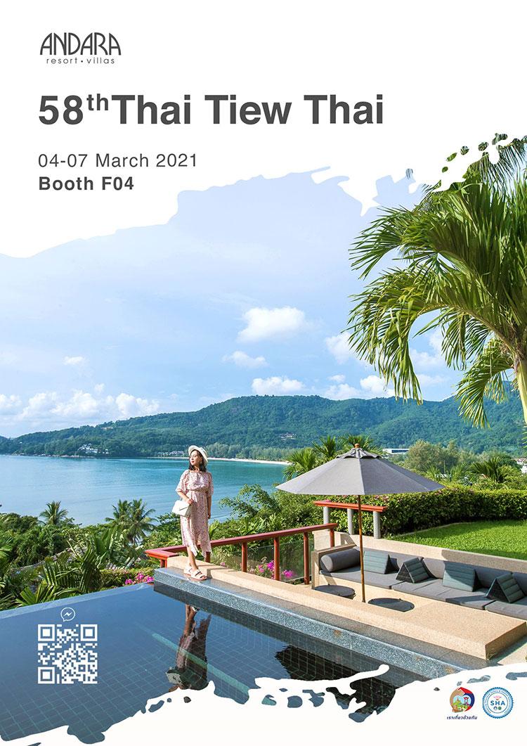 Andara Resort at Booth F04 at the 58th Thai Tiew Thai