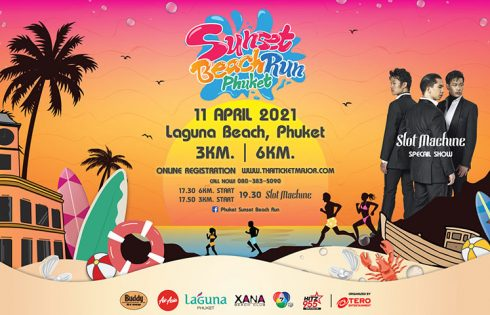 Celebrate the Songkran Holidays with Fun Run and Beach Party at Phuket Sunset Beach Run on 11 April