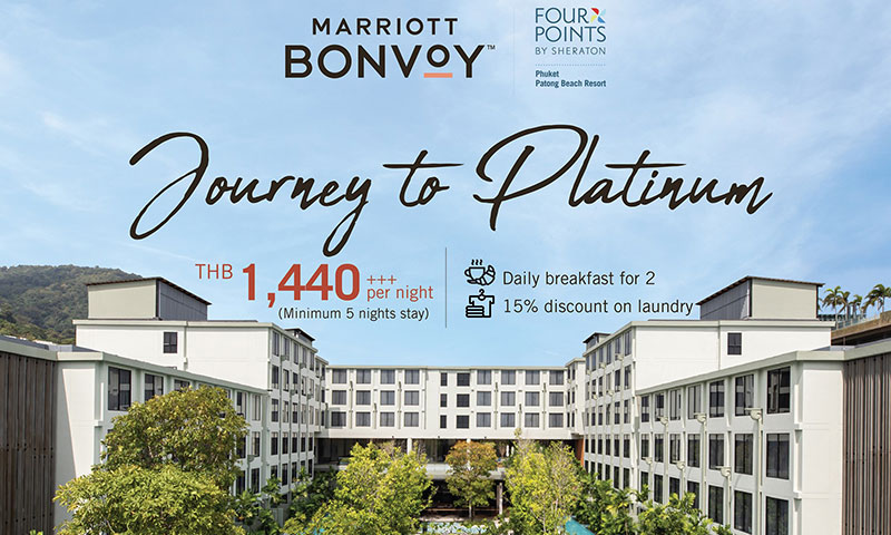 """Journey to Platinum"" promotion, Four Points by Sheraton Phuket Patong Beach Resort"