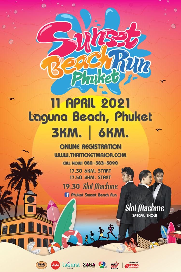 Celebrate the Songkran Holidays with Fun Run and Beach Party at Phuket Sunset Beach Run on 11 April