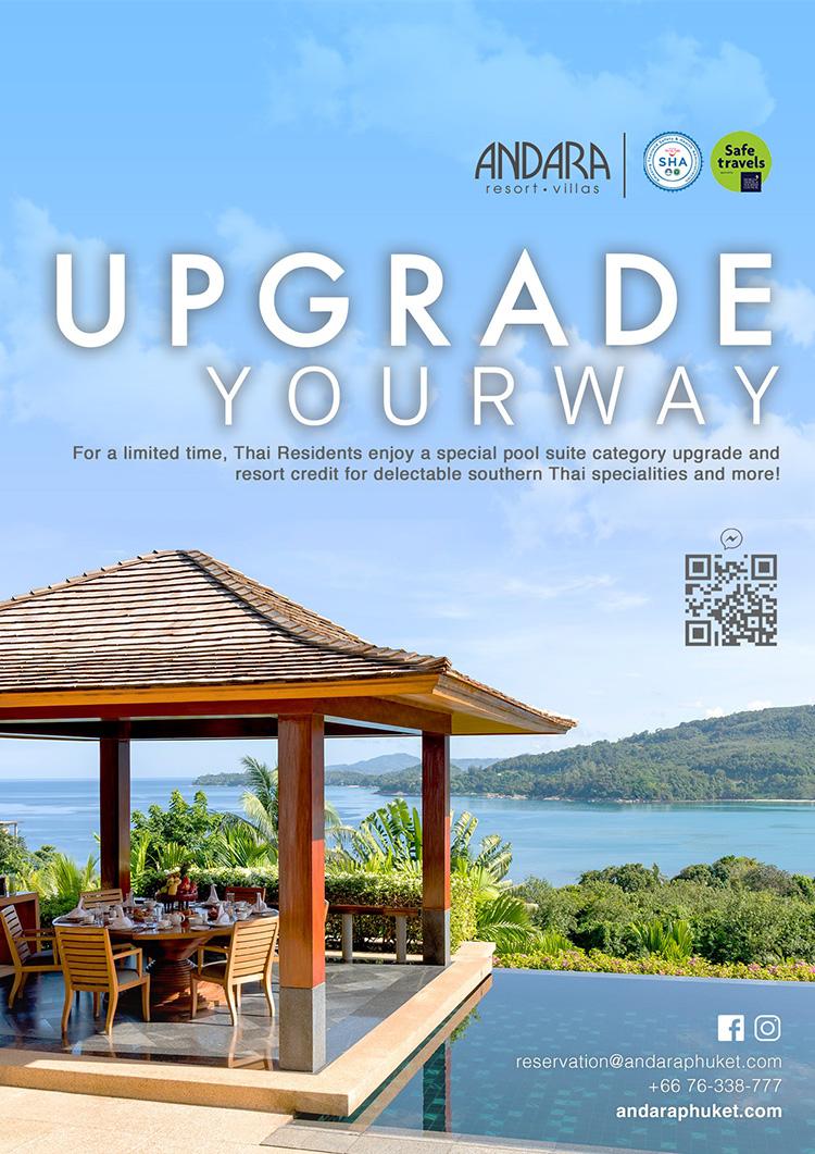 Upgrade your next day - YOUR WAY! Andara Resort & Villas