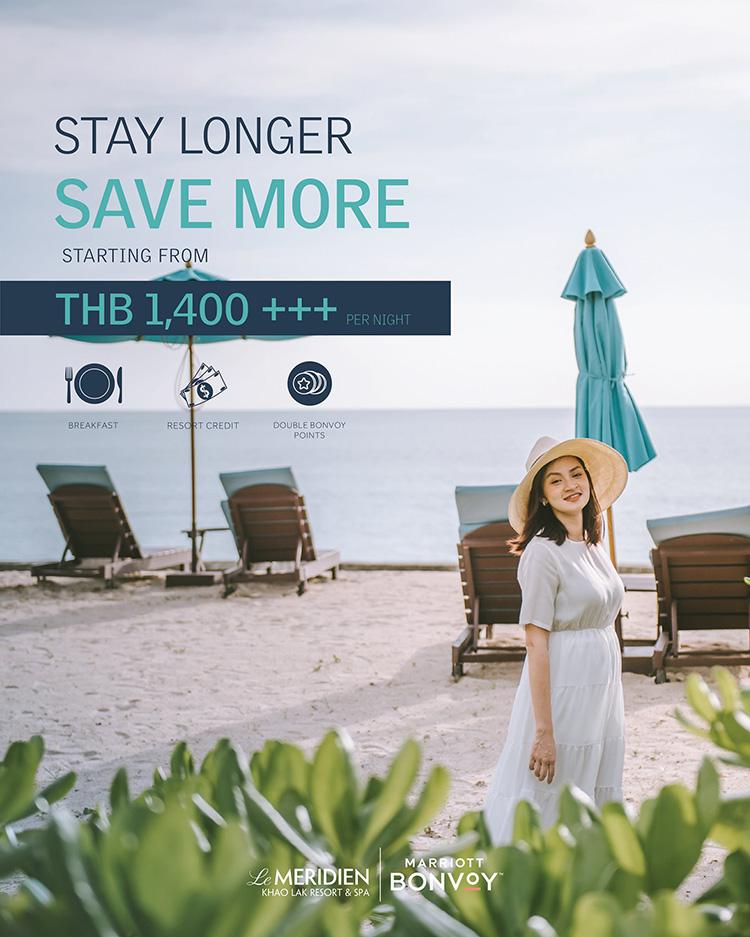 """""""Stay Longer Save More"""" package - Le Meridien Khao Lak Resort & Spa"""