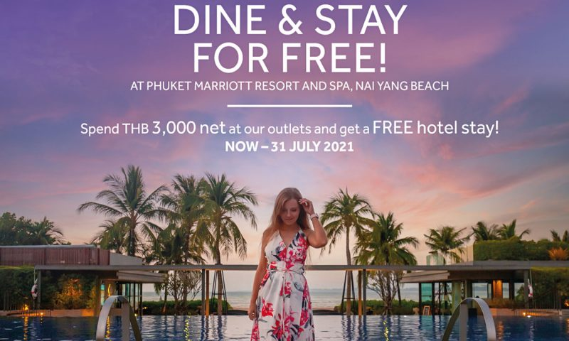 Dine in Style and Stay for FREE at Phuket Marriott Resort and Spa, Nai Yang Beach!