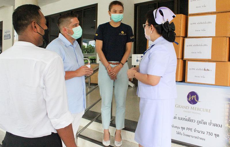 Grand Mercure Phuket Patong Resort & Villas donates PPE Suites to Patong Hospital
