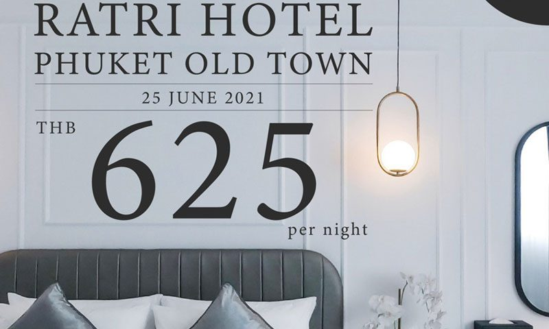 Ratri Phuket Old Town : 40% OFF special offer on soft opening