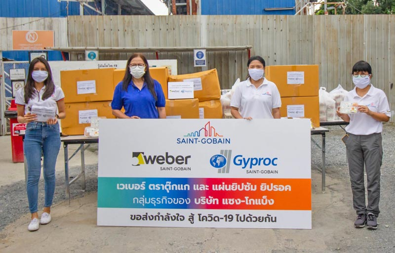 Saint-Gobain Thailand by Gyproc and Weber has conducted CSR activities