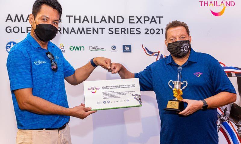 Amazing Thailand Expat Golf Tournament Series 2021 held in Phuket Sandbox