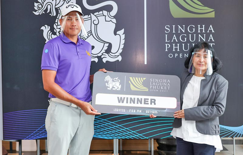 Ratchapol lead his team to claim the victory in the Singha Laguna Phuket Open 2021